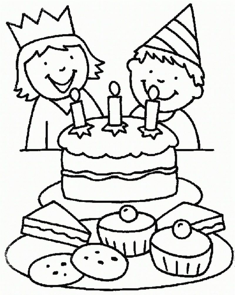 Birthday Color Pages Printable Birthday Coloring Pages Happy Birthday Coloring Pages Kitty Coloring