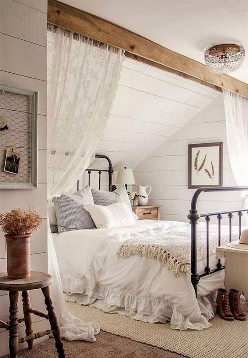 Most Romantic Bedroom Decor: 54 Relaxing Farmhouse Master Bedroom Decoration Ideas