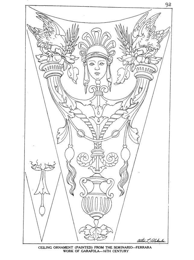 Ornamental details of the Italian renaissance in 2020