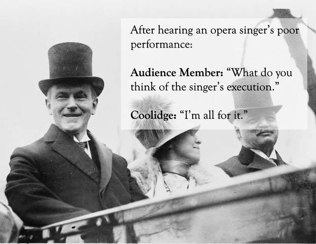 Image result for calvin coolidge i'm all for it