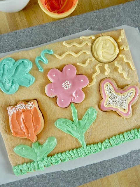 Spring Flower Cookie Garden Puzzle...have an itch for Spring?  This fun-filled baking project is great for moms and kids!  Who knew you could make a puzzle with cookie dough?
