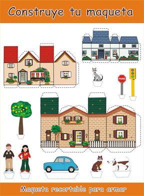Figuras para recortar armar papel construyamos maquetas for Construye tu casa en 3d