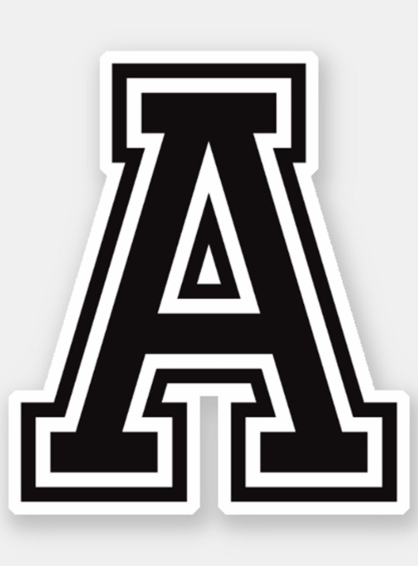 Letter A Sporty College Font Alphabet Sticker Zazzle Com