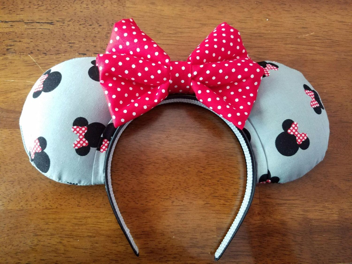 A personal favorite from my Etsy shop https://www.etsy.com/listing/455858330/gray-and-black-minnie-mouse-ears