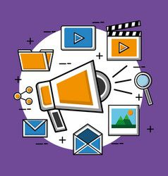 Social media image vector image on VectorStock | Social ...