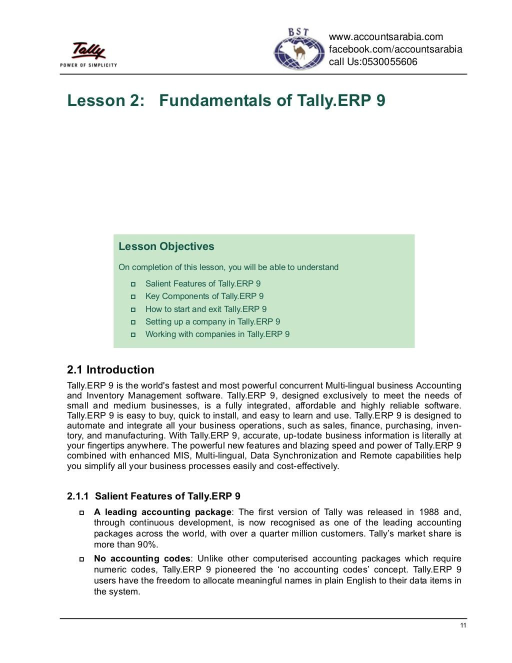 Fundamentals Of Tally Erp 9 By Accounts Arabia Via Slideshare Fundamental Understanding Lesson