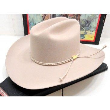 34c3e3abcb0 Stetson Cowboy Hat 6X Beaver Fur Felt Silverbelly Carson