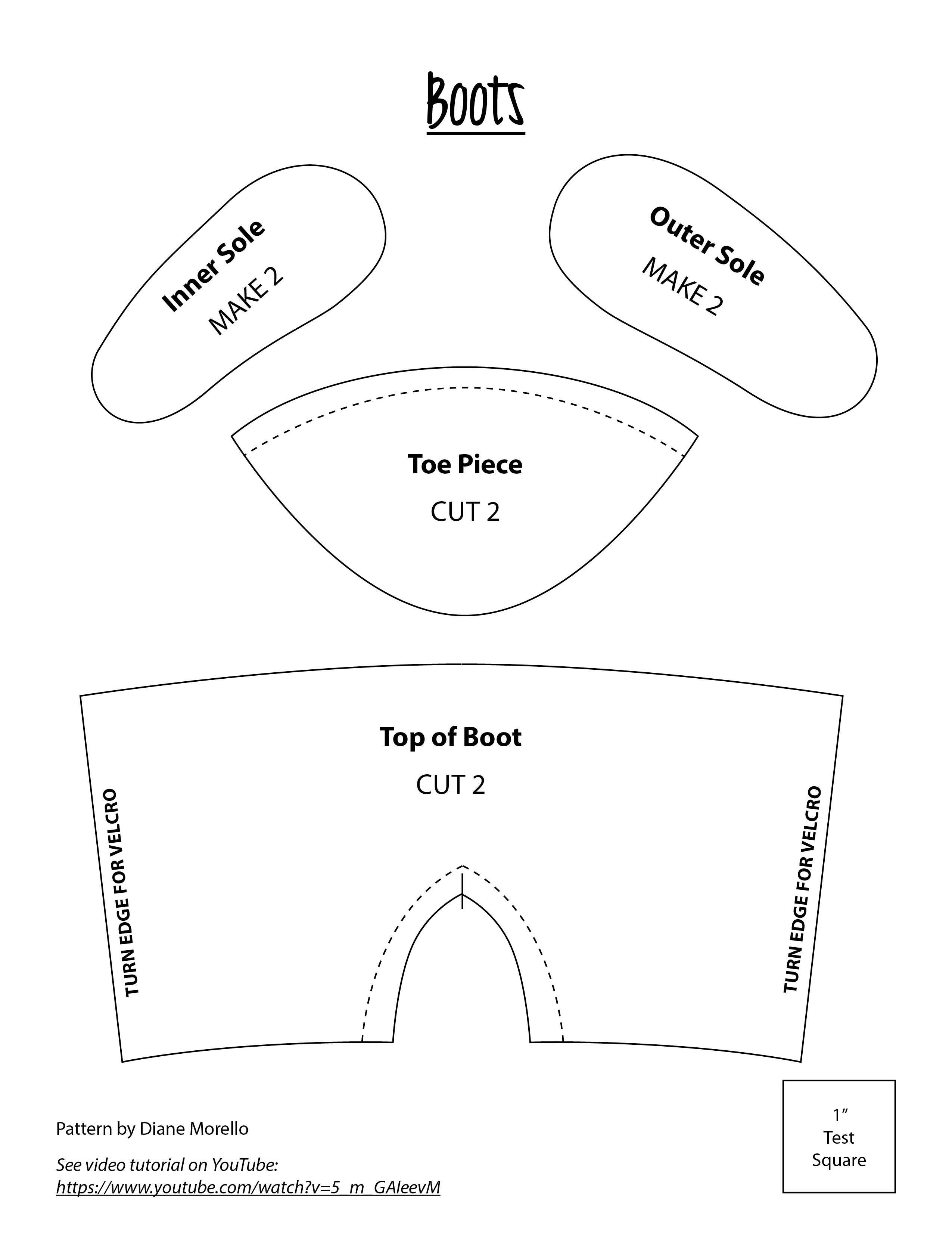 A Basic Boot Pattern Doll Shoe Patterns American Girl Doll Shoes Doll Clothes American Girl
