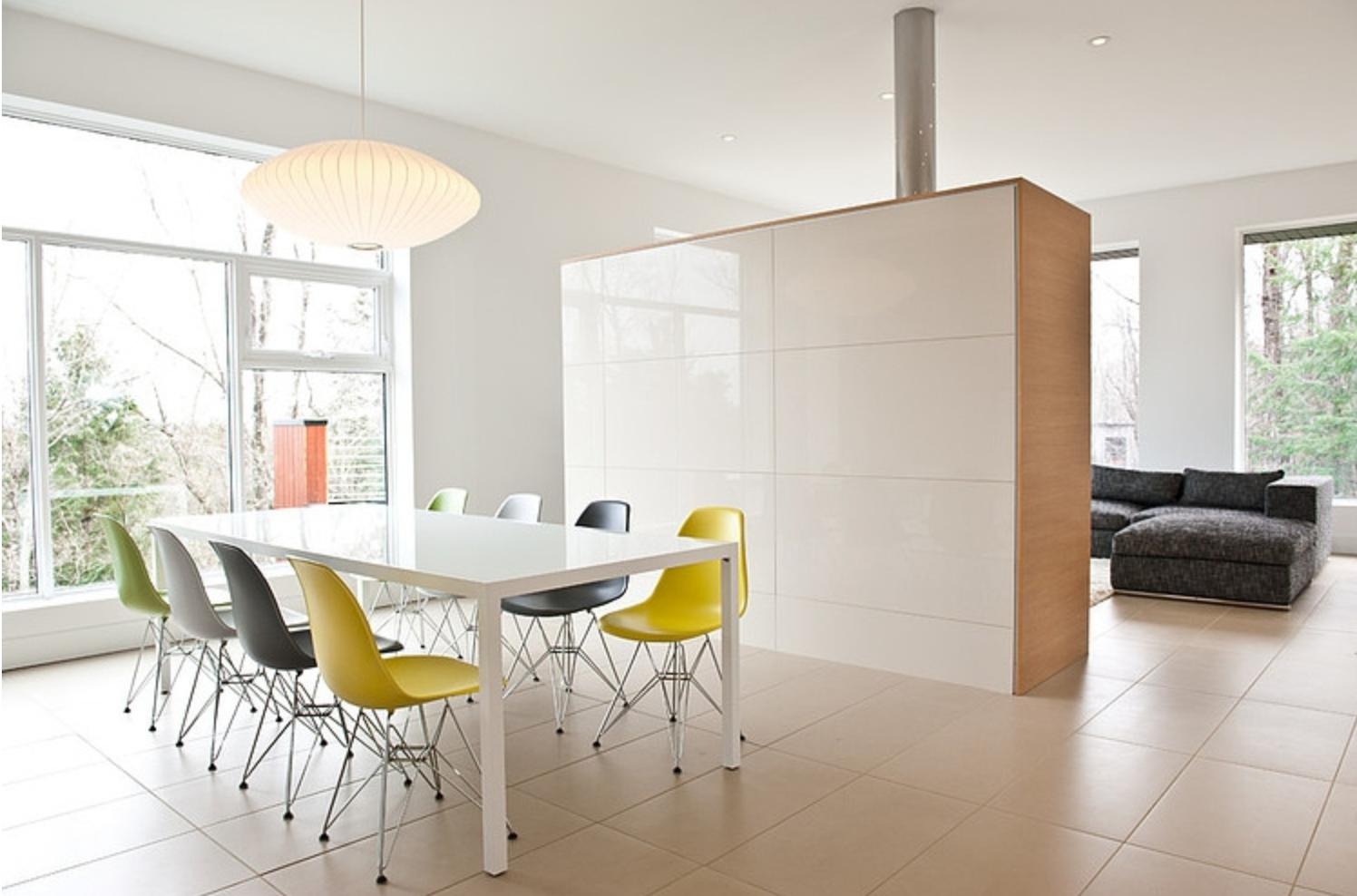 Scheidingswand eetkamer woonkamer vitra dining