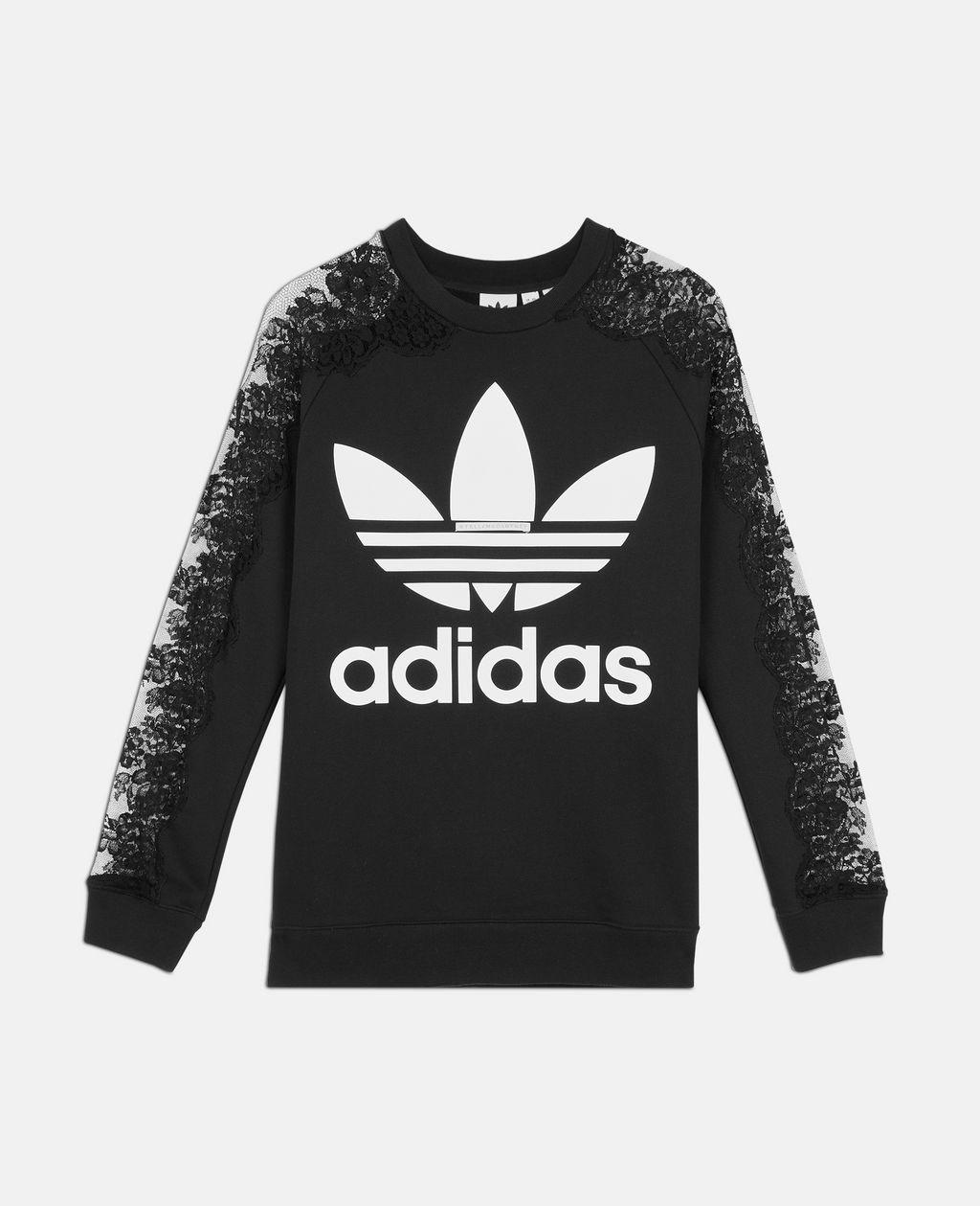 Stella Mccartney Adidas 3 Stripe Lace Sweater Xs [ 1259 x 1024 Pixel ]