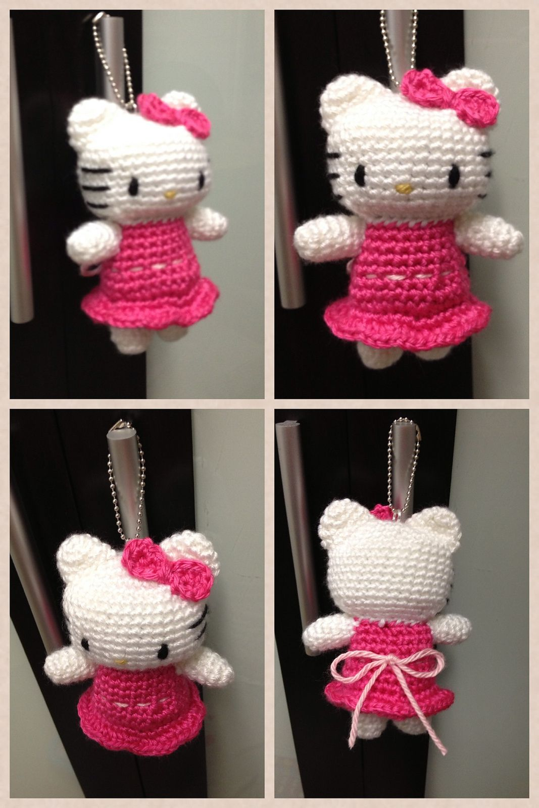 💕Offer💕 Crochet hello kitty keychain /bag accessory, Design ... | 1600x1067