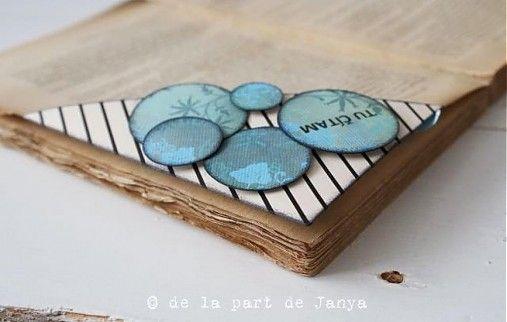 Francúzska záložka do knihy LES CERCLES BLEUS