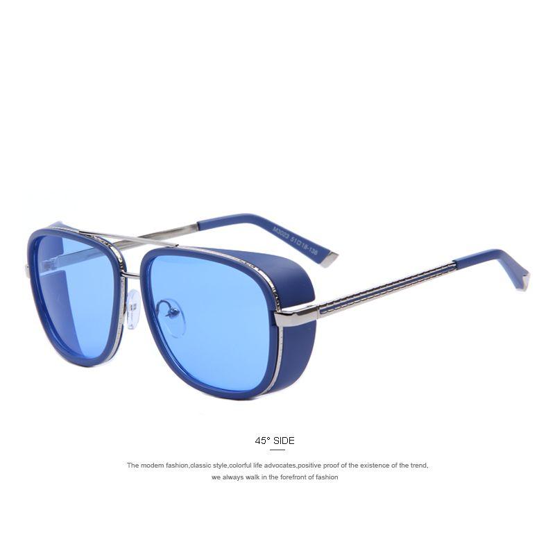 14aa569589cca IRON MAN 3 Matsuda TONY Steampunk Sunglasses Men Mirrored Designer Brand  Glasses Vintage Sun glasses WOW  shop  beauty  Woman s fashion  Products   Classes