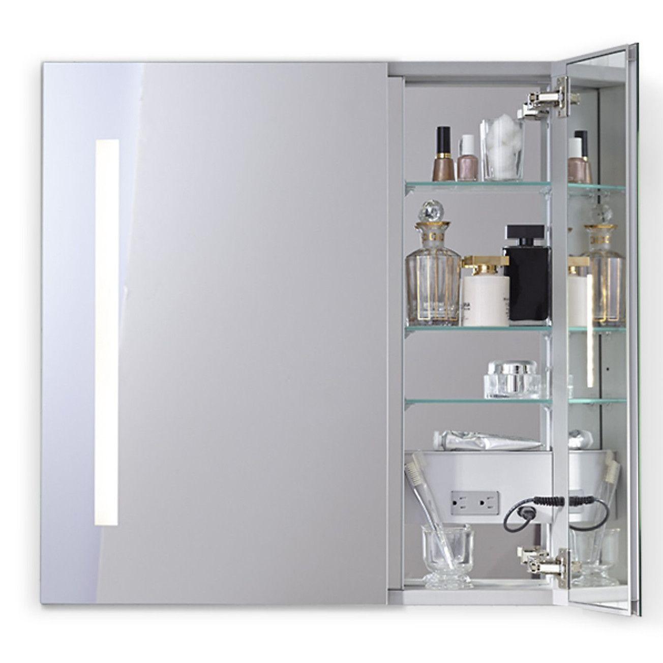 robern aio series two door lighted medicine cabinet