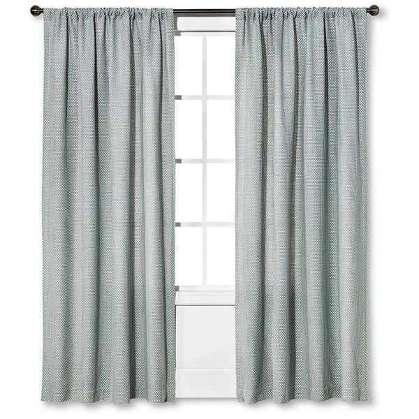 Woven Curtain Panel Gray White 21 Liked On Polyvore