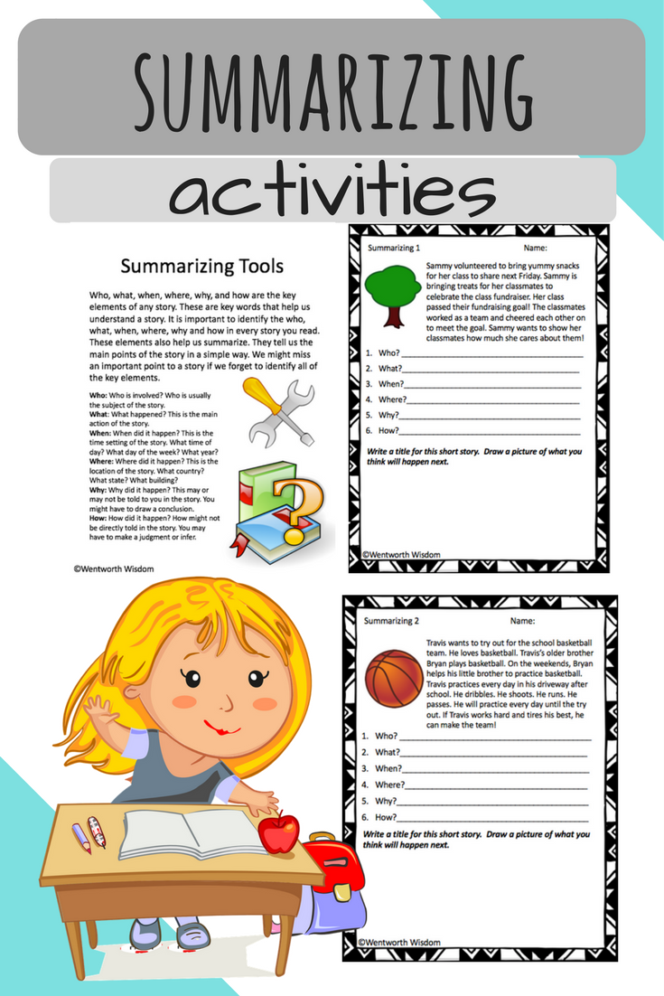 Are You Looking To Enhance Your Student S Summarizing Skills While In A Reading Wri Summarizing Activities Elementary Reading Activities Summarizing Worksheet [ 1102 x 735 Pixel ]