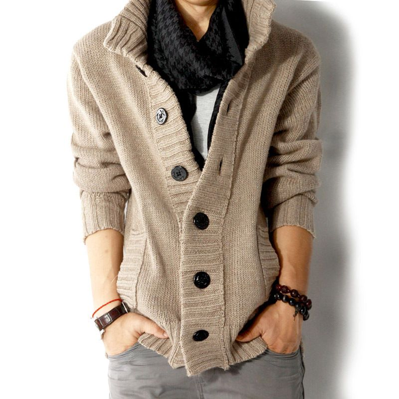2017 Autumn Winter Men Sweaters and Cardigan Thickening Long ...