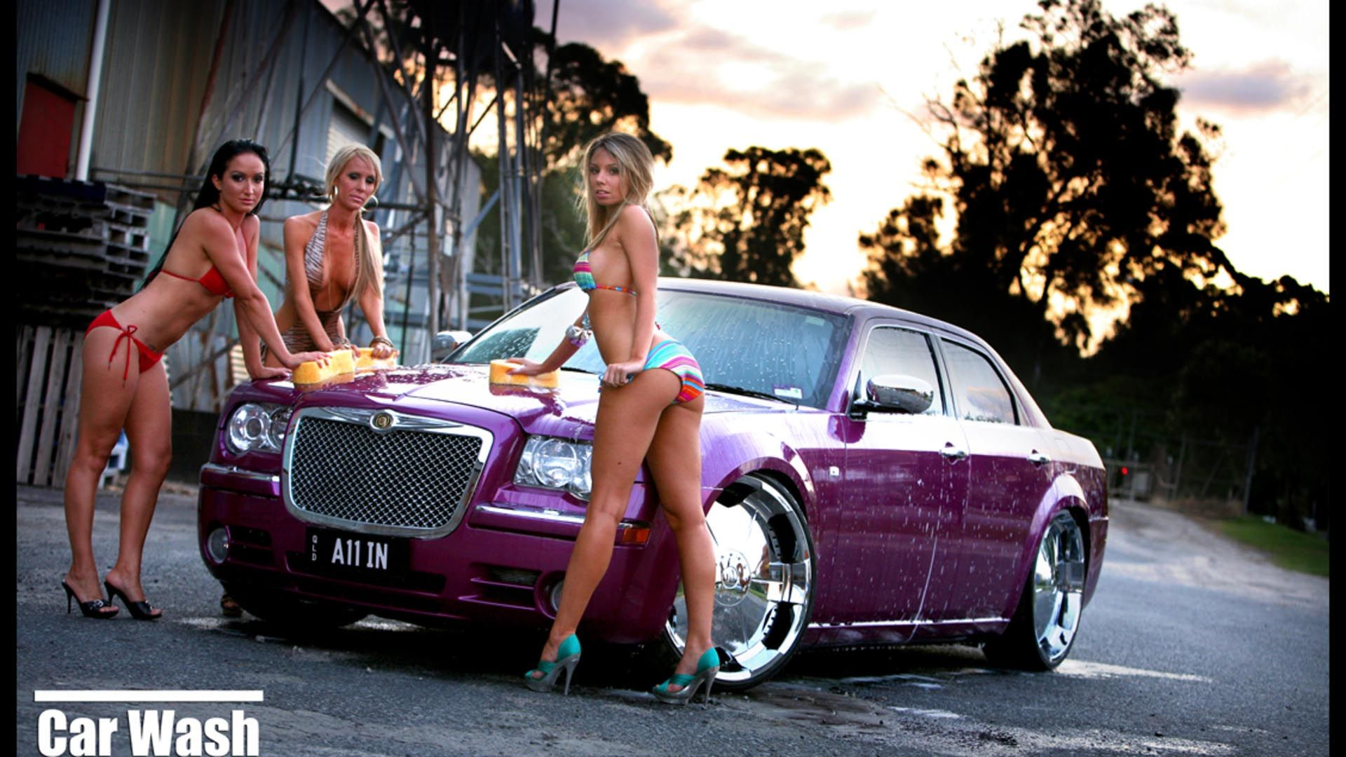 And Girl Muscle Wallpaper Exotic Car