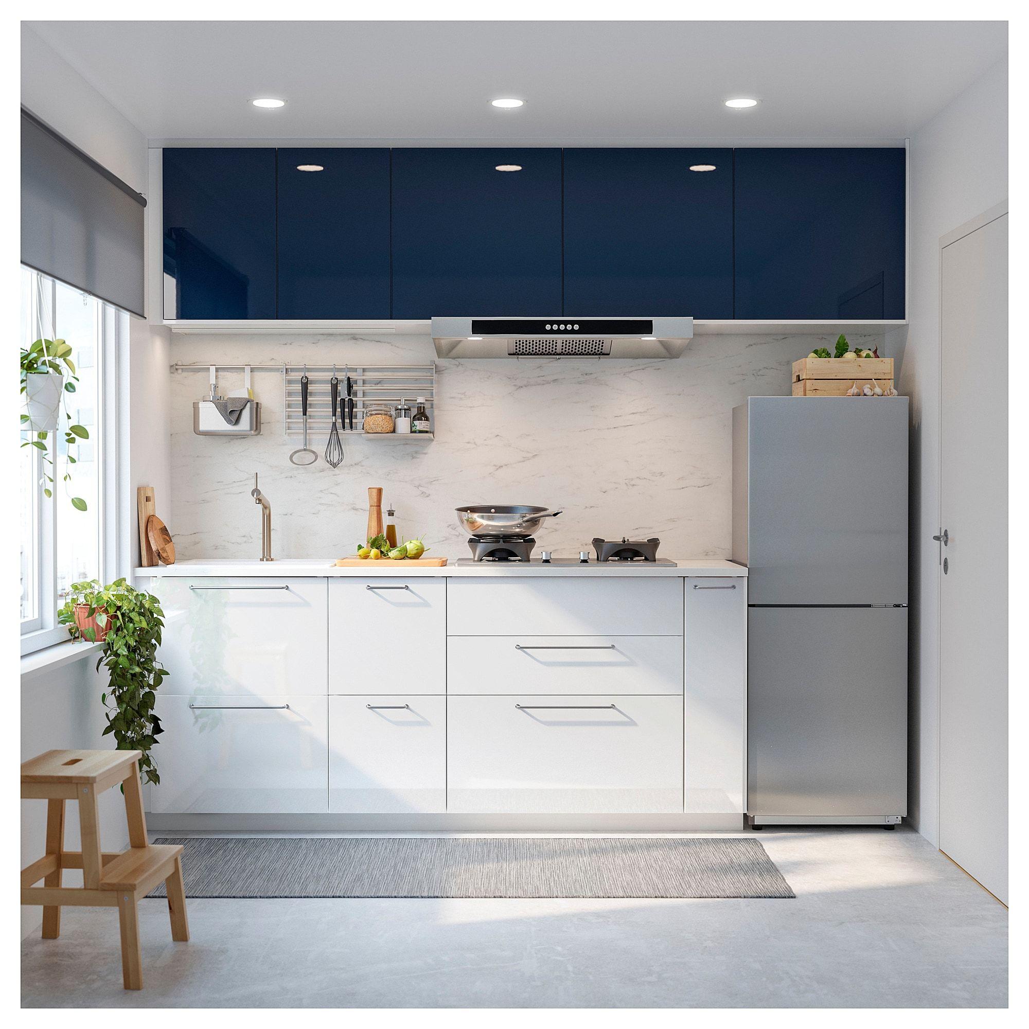 Sibbarp Wandpaneel Massgefertigt Weiss Marmoriert Laminat Ikea Osterreich Galley Kitchen Design Kitchen Interior Kitchen Design