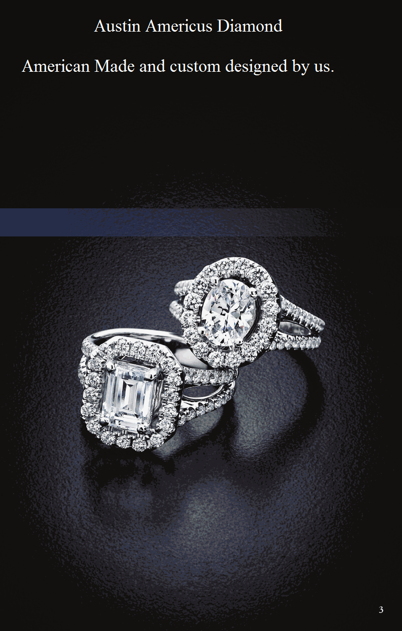 cushion ring americus rings engagement product cut diamond