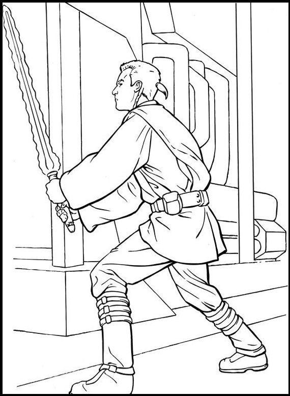 Star Wars Obi Wan Kenobi Coloring Picture For Kids