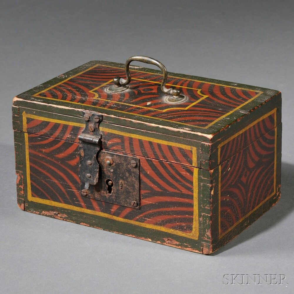 Decorated Wooden Boxes Small Paintdecorated Wooden Box  Sale Number 2710B Lot Number
