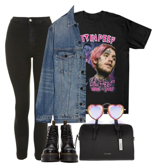 """""""Untitled #2442"""" by oliviaswardrobe ❤ liked on Polyvore featuring Topshop, Alexander Wang, Calvin Klein and Dr. Martens"""