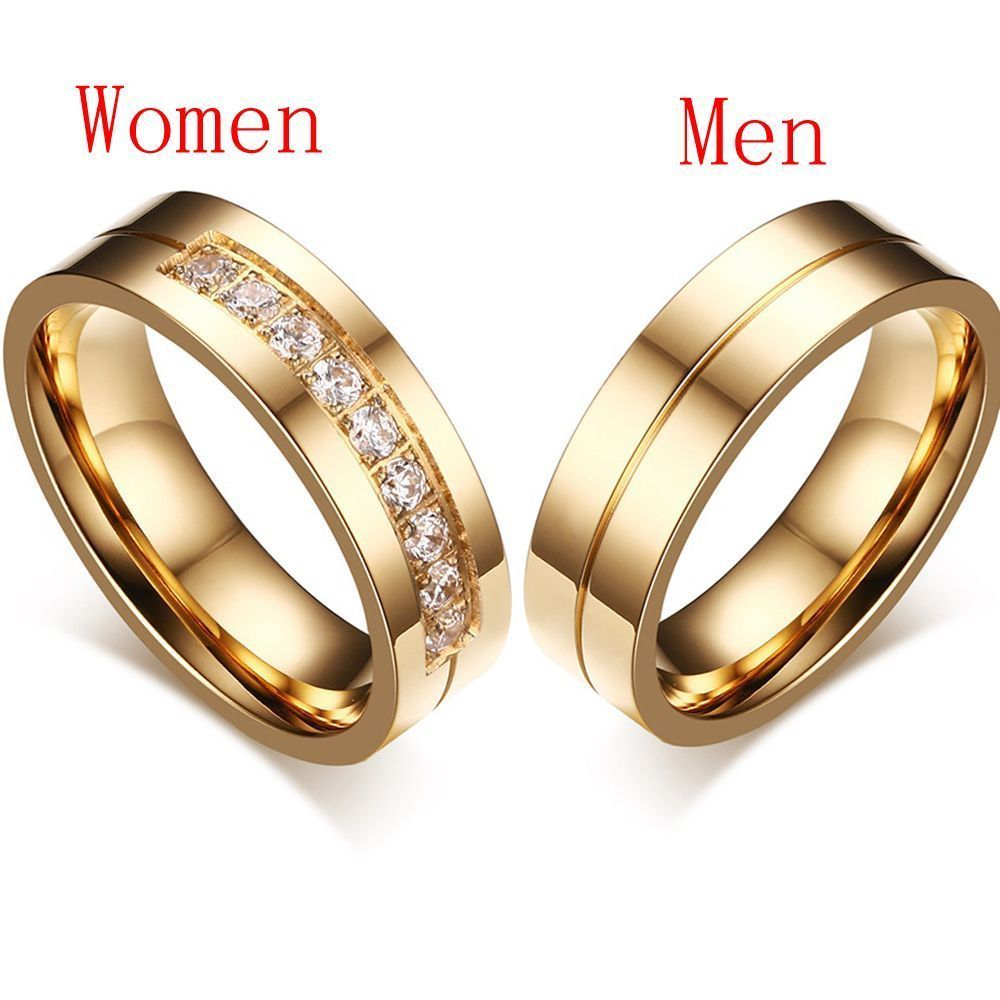 Material X3a Stainless Steel Cz Ebay Wedding Ring Bands Gold Plated Wedding Band Cubic Zirconia Wedding Bands