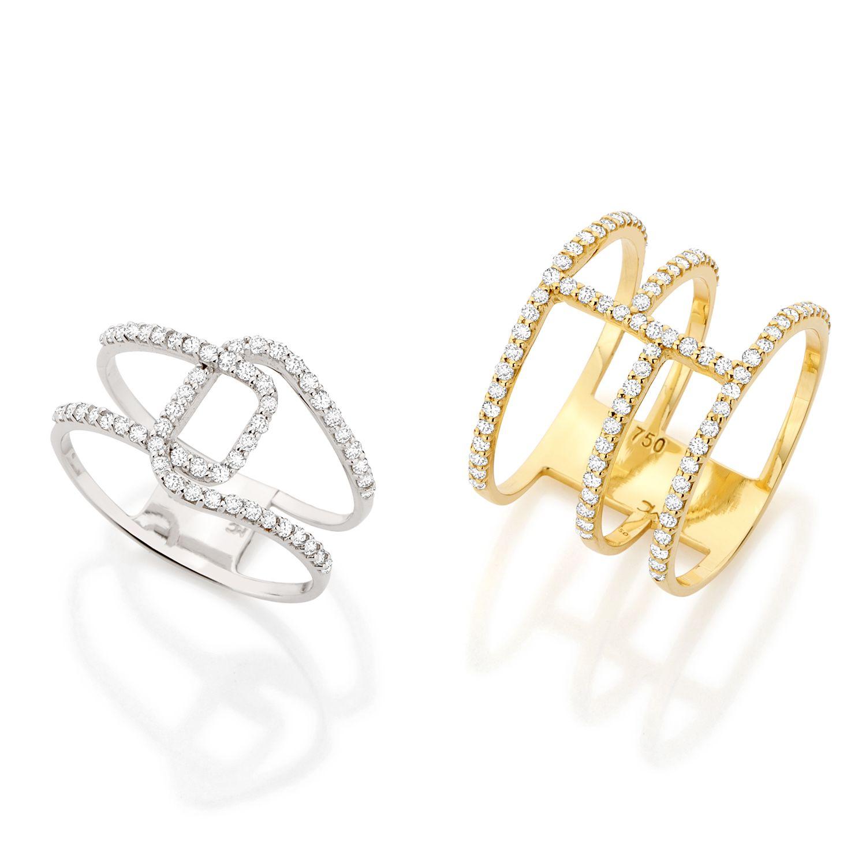 47b4465ebe6b5  Coleção Modern  Anéis em ouro amarelo ou ouro branco 18k com diamantes  Monte Carlo