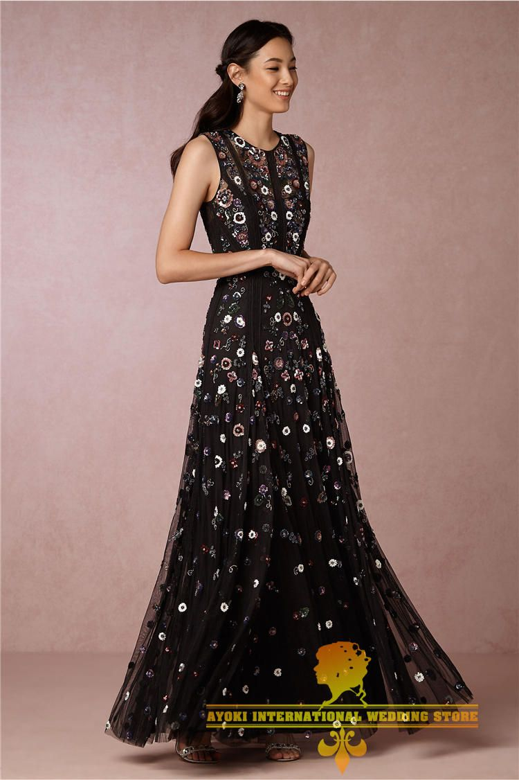 Dresses to wear to fall wedding as a guest  Needle u Thread代购 奢华背心款手工刺绣镂空长款连衣裙晚礼服淘宝网