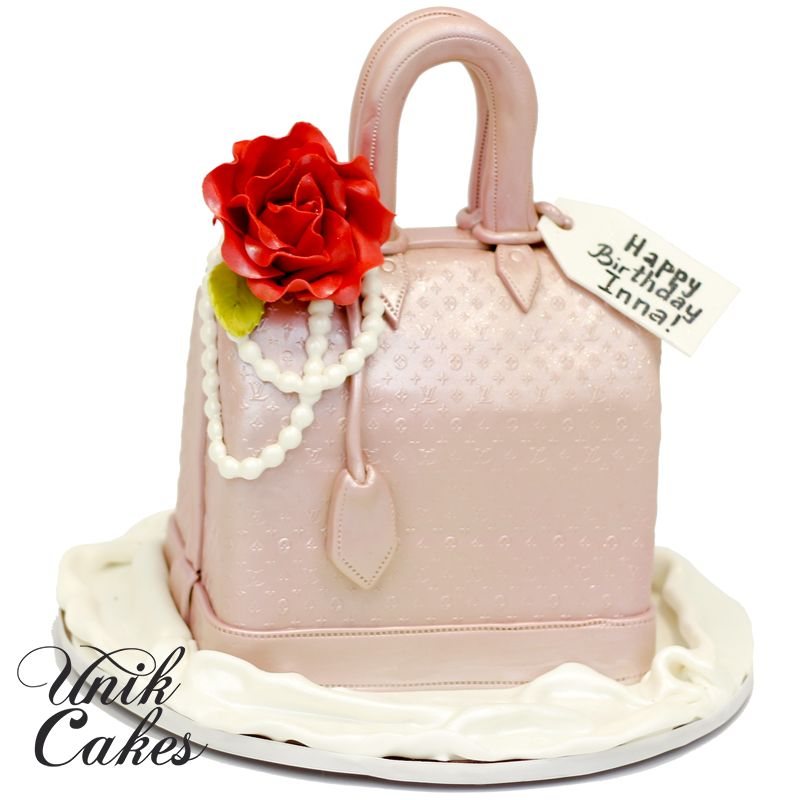 luis bag birthday cake Ladies Cakes Pinterest Birthday cakes