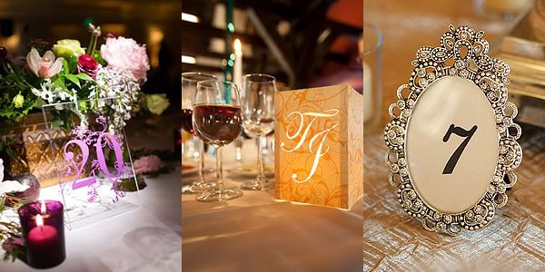 Nouvelle Weddings And Events Table Numbers To Match