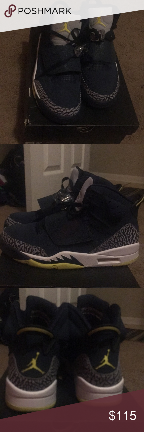 dea4c1c18630 Air Jordan Son Of Mars Air Jordan Son Of Mars 512245 405 Armory Navy  Blue electrolime Like new only worn once. Air Jordan Shoes Athletic Shoes