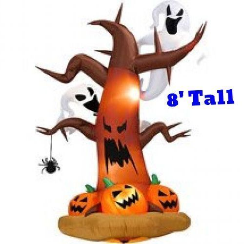 Halloween Inflatables Dead Tree Scary Ghost Pumpkins Lights up