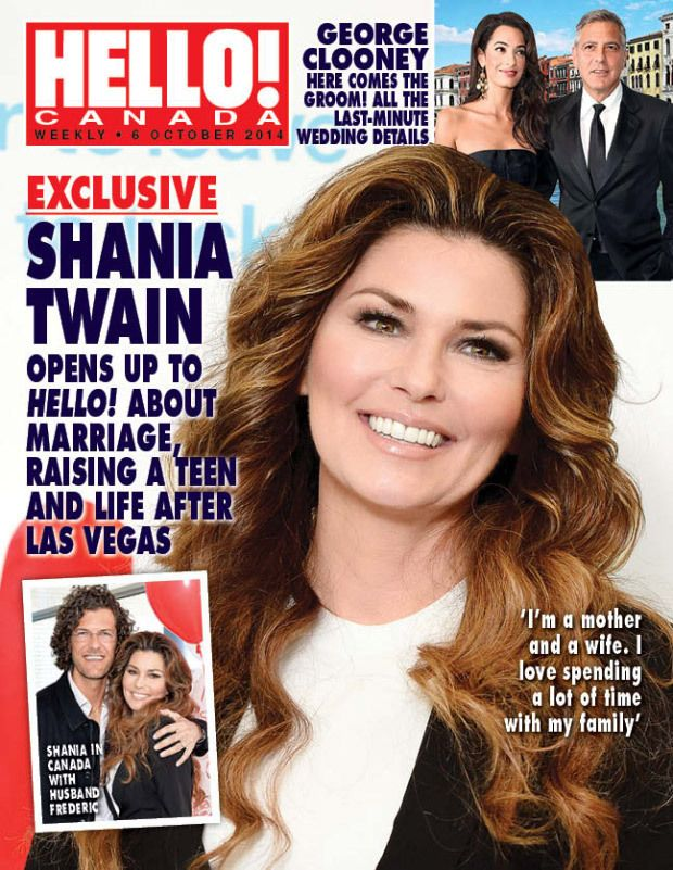 Shania On The Cover Of Hello Canada October 6 2014 Shania Twain Country Female Singers Singer