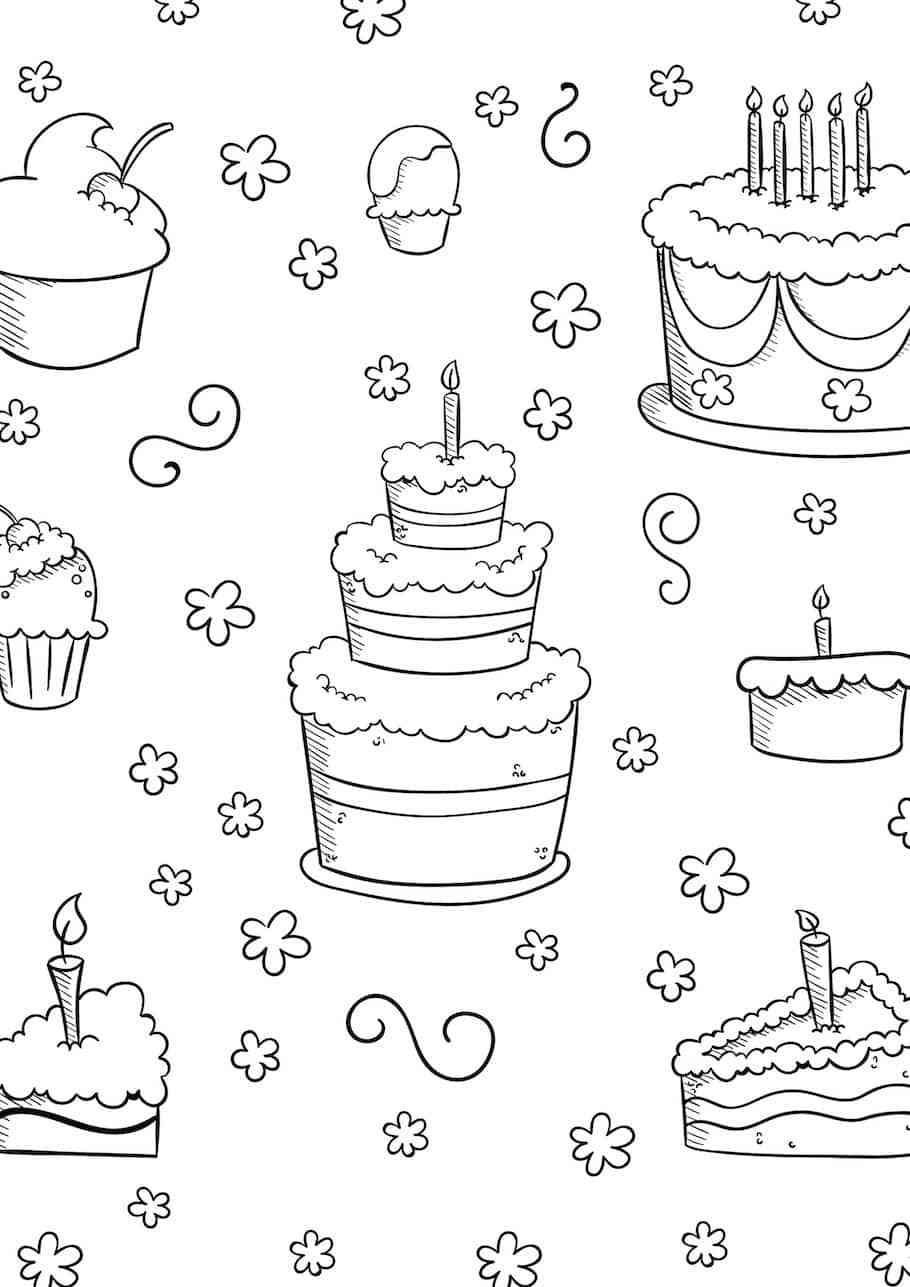 Superb 27 Great Image Of Birthday Cake Text Art Birthday Doodle Cake Funny Birthday Cards Online Inifofree Goldxyz