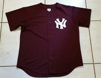 reputable site f2b84 855e5 Rare Vintage MAJESTIC New York Yankees SEWN Burgundy MLB ...
