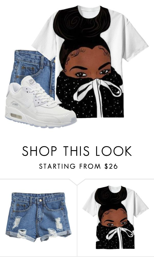"""""""Shy girl became a fly girl"""" by beautiful-image ❤ liked on Polyvore featuring mode et NIKE"""