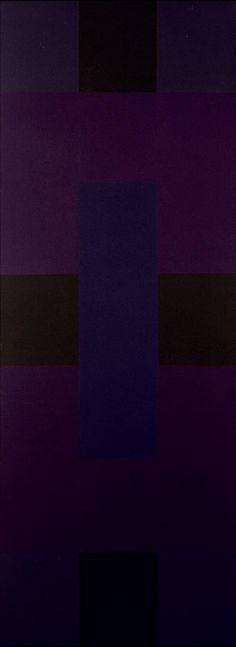 Ad Reinhardt, Abstract Painting (A), 1954-59, Öl auf Leinwand, 276 x 102 cm, Museum Ludwig 1978