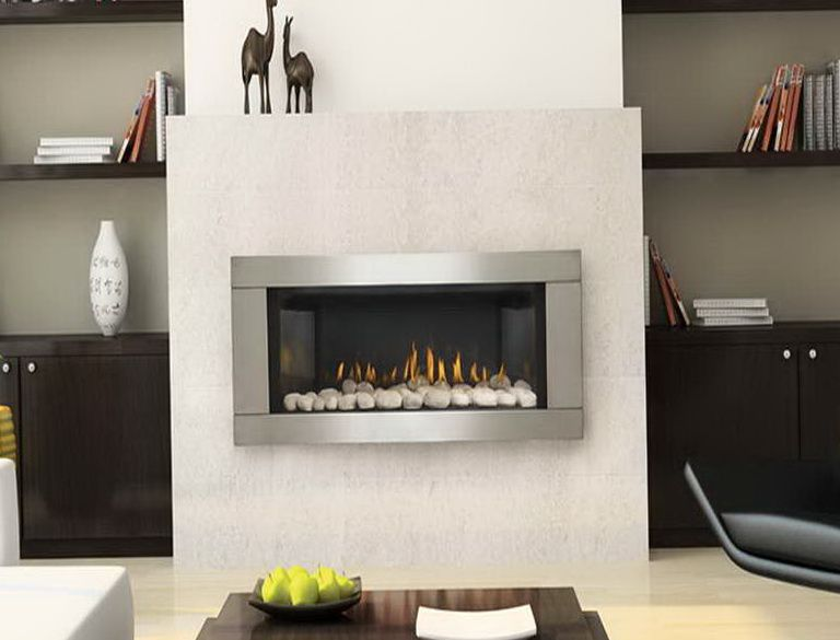 Ventless Natural Gas Fireplace Wall Mount Linear Fireplace Contemporary Home Decor