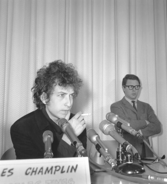Bob Dylan holds court at a press conference on December 16 1965 in Los Angeles California