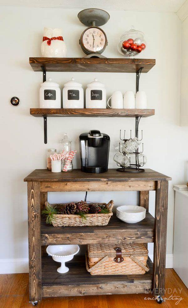 20 DIY Coffee Bar Ideas For Your Amazing Home | Rustic Farmhouse, Diy  Coffee Table And Coffee Bar Design