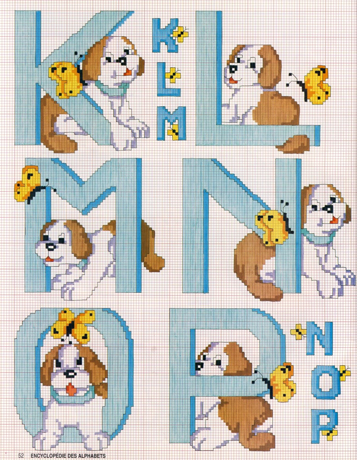 Schema punto croce alfabeto cane 3 punto croce punto for Alfabeto a punto croce per neonati