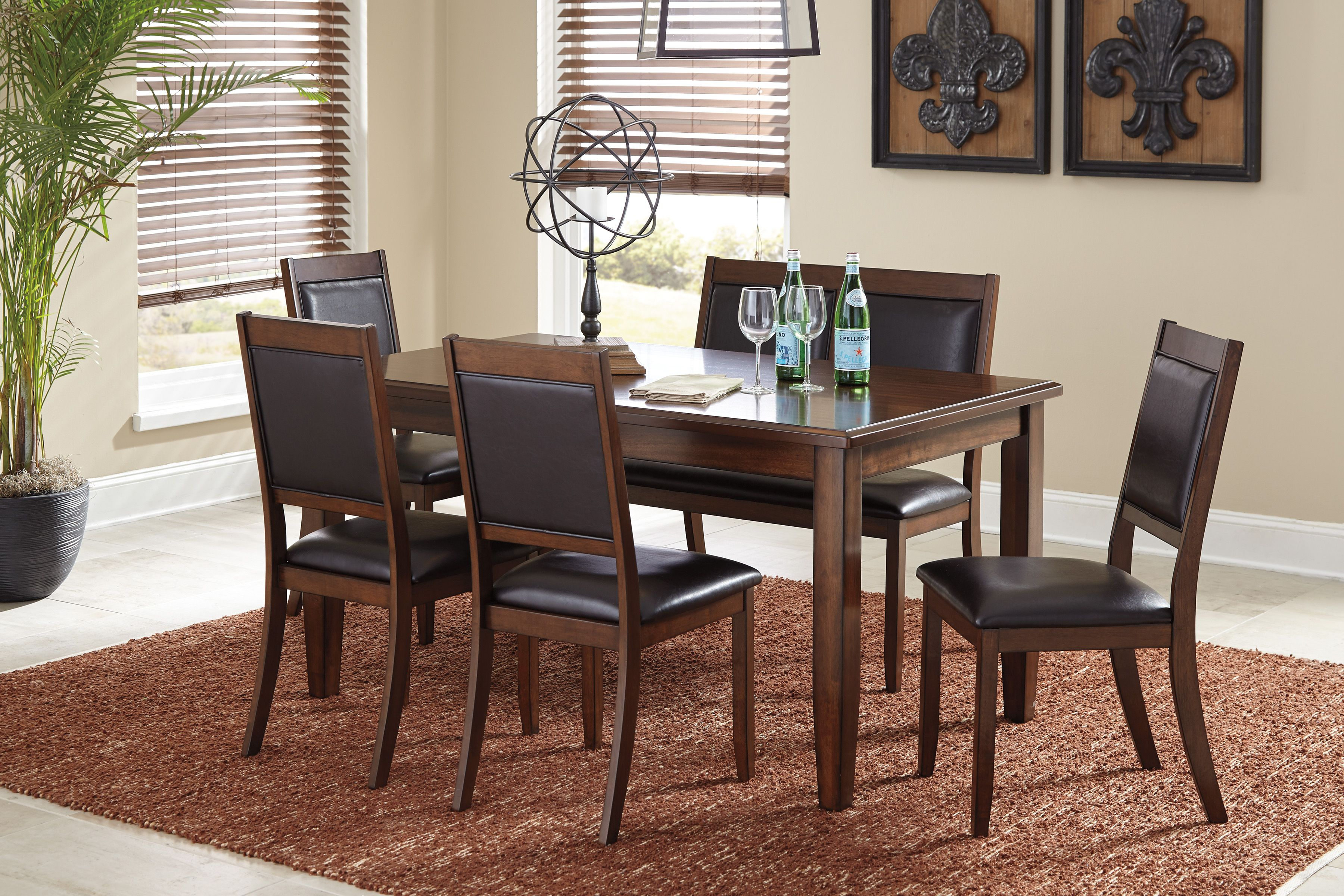 Ashley D395 325 Meredy Dining Room Table Set Dining Room Sets