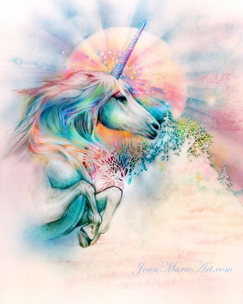 Unicorn Rainbow Unicorn Fantasy Myth Mythical Mystical Legend