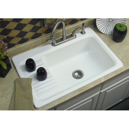 Matte White Double Basin Acrylic Kitchen Sink Drainboard Sink Farmhouse Sink Single Bowl Kitchen Sink