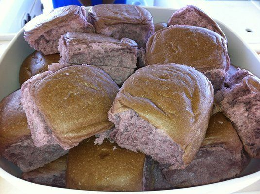 Gotta bring some of this back home or else people will be sad...taro bread