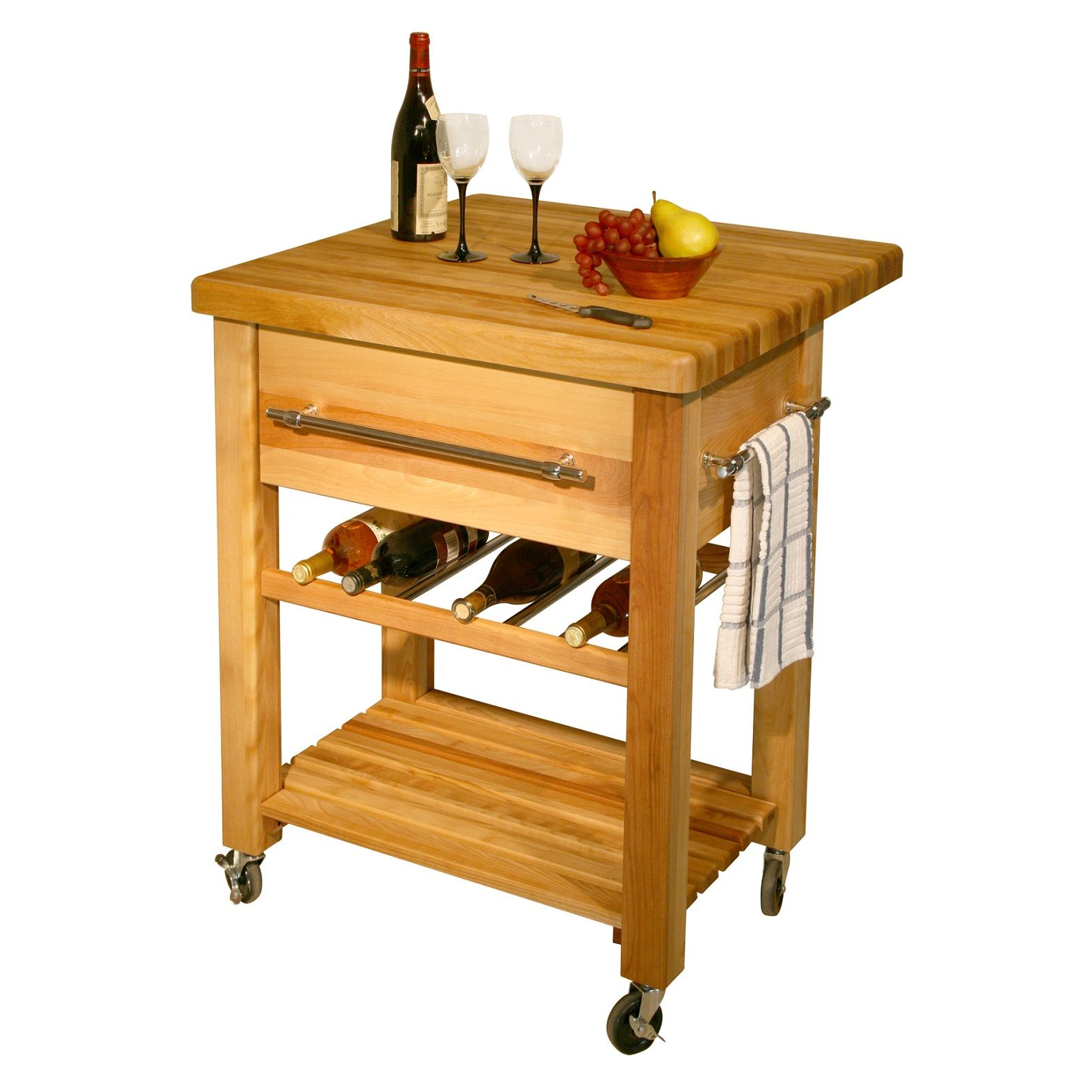 Adorable Catskill Grand Island Wine Countertop Butcher Block Cart With Drop Leaf And Wheels For Movable Kitchen Ideas
