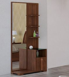Kosmo Grace Dressing Table in Rigato Walnut Finish by Spacewood ...