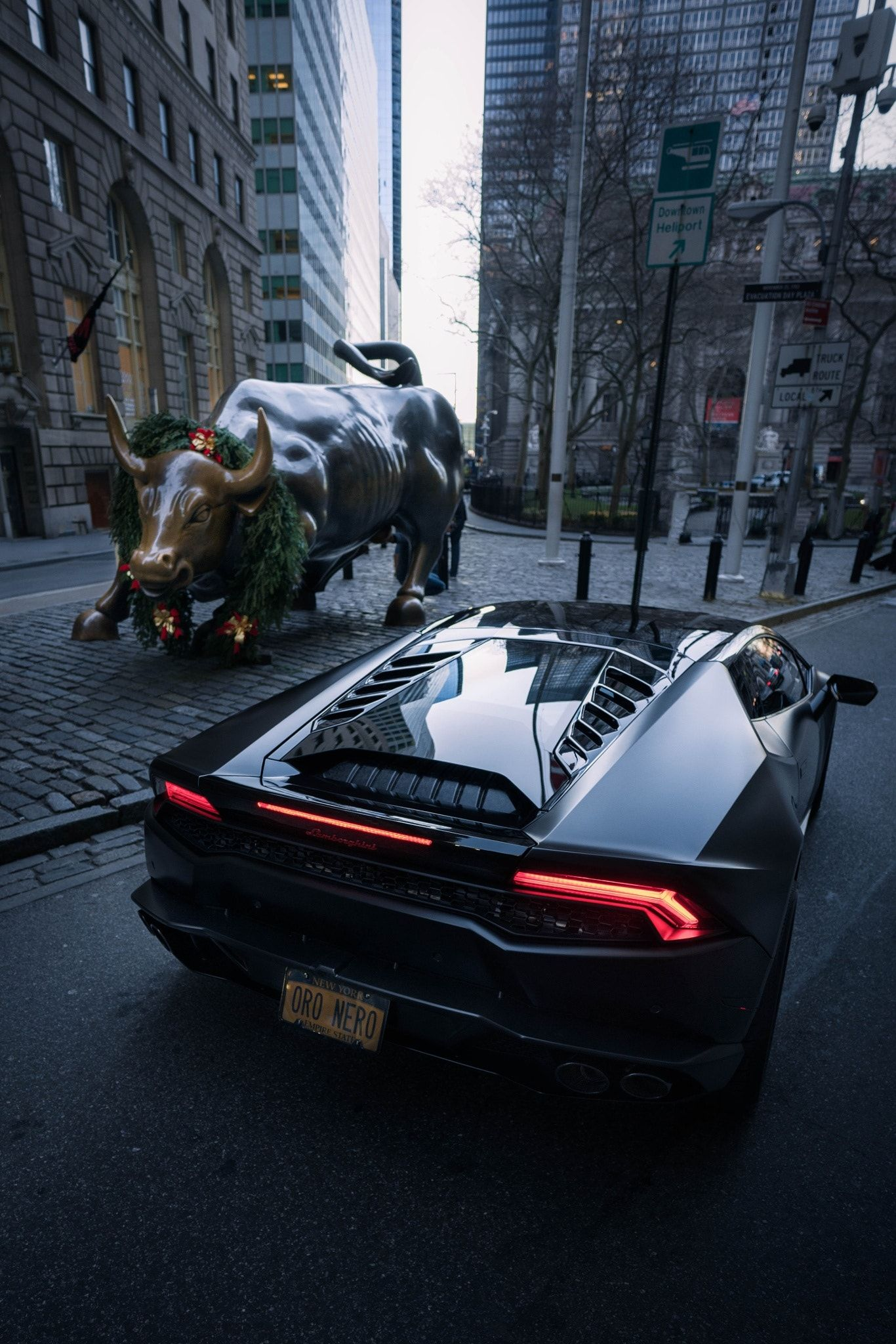 Driving To Walls Street To An Epic Battle Bull Of Wall Street Vs